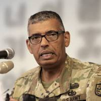 U.S. Gen. Vincent Brooks, commander of the United Nations Command, U.S. Forces Korea and Combined Forces Command, speaks during a news conference at the Seoul Foreign Correspondents Club in the South Korean capital Wednesday. | AP