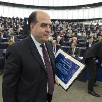 Venezuelan parliamentary President Julio Borges leaves after receiving the Sakharov Prize for Freedom of Thought on behalf of Venezuela's opposition in Strasbourg, France, on Dec. 13.   AP