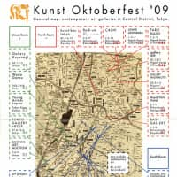 A map for the Kunst Oktoberfest gallery tour