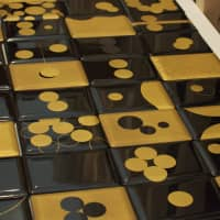 More black and gold lacquerware from Japan's Tohoku region.