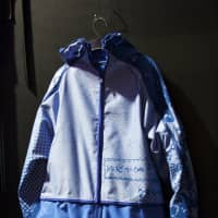 Taking a tip from origami and kimono, this jacket from Hiroshi Mukai unzips into a one piece of material.