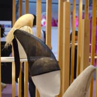 Tusk-inspired headgear in a special section devoted to Tohoku-based design.