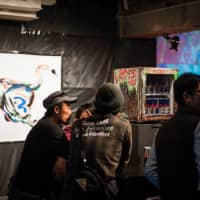 The opening party at SuperDeluxe in Nishi Azabu. (Photo by Michael Holmes)