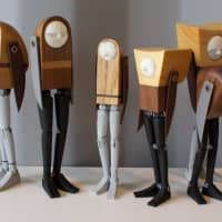 Sad-man figures by Swedish toy maker Mani Zamani at TDW