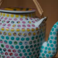 Pretty pixilated teapot from Singaporean designer Hans Tan at Design Tide