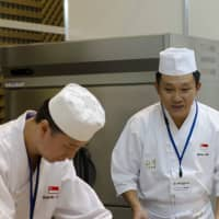 At The World International Sushi Cup Japan 2013, the Singaporean team rolls together.
