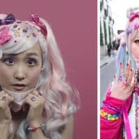 While mainstream women are going back to basics, decora girls are picking up the slack — along with anything else they can find. The Harajuku subculture likes to put on as many colorful clips, rings and stickers as their face can handle to balance out the drab days at school and in the office.