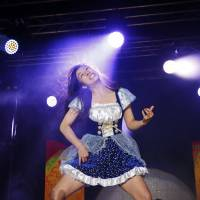 Japanese woman takes top prize as plucky air guitarists chase stringless glory at world championships in Finland
