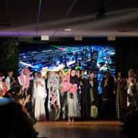 Waseda University student's show fuses Arabian and Japanese fashion