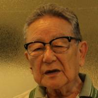 Hisao Mesaki speaks in Nagoya during a recent interview about his experiences before and during World War II.