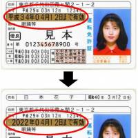 Driver's licenses in Japan to start showing expiration date using Western calendar