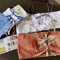 Easy-fitting, handmade bras are becoming popular with evacuees in disaster-hit western Japan. | KYODO