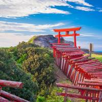 Tourists started to flock to Motonosumi-Inari Shrine in Nagato, Yamaguchi Prefecture, after CNN profiled the town as one of 'Japan's 31 most beautiful places.' | GETTY IMAGES