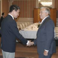 Japan foreign minister and U.N. chief agree on need to keep North Korea sanctions