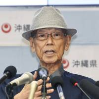 Okinawa Gov. Takeshi Onaga, long a voice for those opposed to U.S. bases in the prefecture, dies at 67