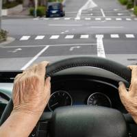 How can I ensure my family isn't liable for my elderly Japanese wife's driving mishaps?