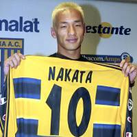 Hidetoshi Nakata penned a four-year deal in 2001 with Parma for a transfer fee of $26 million, a world record payment for an Asian player that would not be broken for 14 years. | KYODO / VIA AP