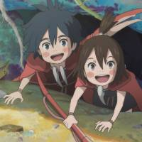 The view from below: The tiny heroes of 'Kanini & Kanino,' the first of three shorts in Studio Ponoc's 'Modest Heroes' anthology, exist in a world where fish and raindrops can pose a pretty big threat. | © 2018 STUDIO PONOC