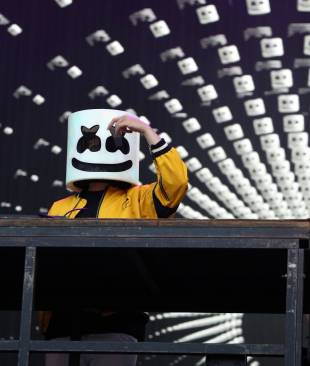 Beats international: Marshmello delivered a slew of original tracks during his set as well as some old favorites such as