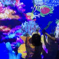 Swimmingly fun: The Sketch Aquarium turns children's drawings of fish, turtles and eels into animated creatures projected onto walls. | DANIELLE DEMETRIOU