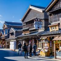 Traditional atmosphere: Wooden townhouses line the boulevard to Ise Grand Shrine in Mie Prefecture. | GETTY IMAGES