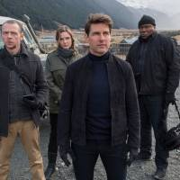 Squad goals: Simon Pegg (far left) is joined by Rebecca Ferguson, Tom Cruise and Ving Rhames in 'Mission: Impossible — Fallout.' | © 2018 PARAMOUNT PICTURES. ALL RIGHTS RESERVED.
