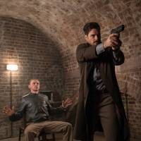 Tight spot: Simon Pegg (left) will have to deal with a gun-toting Henry Cavill in 'Mission: Impossible — Fallout.' | © 2018 PARAMOUNT PICTURES. ALL RIGHTS RESERVED.