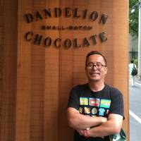Full of beans: Tomoya Yamashiki, chief strategist of Dandelion Chocolate Japan, Inc., at the Kuramae branch in Tokyo, which launched in 2016. | KATHRYN WORTLEY
