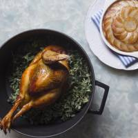 The bird's the word: Belon's whole roasted chicken with Pommes Anna. | COURTESY OF BELON