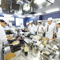 A simple art: Students learning the culinary ropes at the Tsuji Culinary Institute. | COURTESY OF THE TSUJI CULINARY INSTITUTE