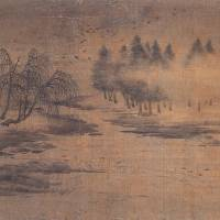 'Autumnal Scenery by the Lake in Mist,' an Important Cultural Property attributed to Zhao Lingrang (12th century) | YAMATO BUNKAKAN