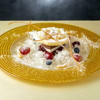 Luxury ice: Spatzle Cafe & Wine's shaved ice comprises Black Forest gateau, meringue and frozen wine from Germany. | SPATZLE CAFE