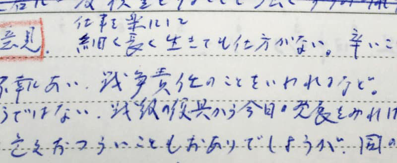 Diary entry shows late Emperor's anguish over war responsibility