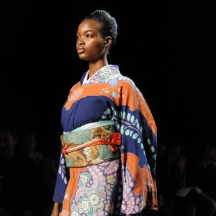 Not in my name: A model wears one of  Hiromi Asai
