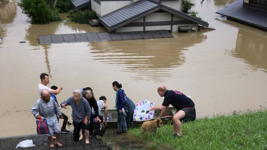 An Antipodean friendship fortified in Japanese floodwaters the color of 'Australian beer'
