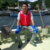 Shinya Kubo had left his native Kamaishi to live in Tokyo by the time of the 2011 Great East Japan Earthquake, but he returned in 2015 to work as a fisherman and tour guide. | ANDREW MCKIRDY