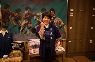 Akiko Iwasaki, the landlady of the Horaikan inn, was almost swept out to the sea by the tsunami but survived by clinging onto the inn