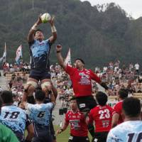 Yamaha Jubilo were invited to take part in the stadium-inaugurating game because they were the first team to visit Kamaishi after the 2011 disaster. | AP