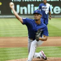 Yu Darvish effective in simulated game