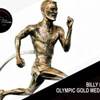 A statue of legendary runner Billy Mills.   COURTESY OF GLOBAL RUNNING CULTURE
