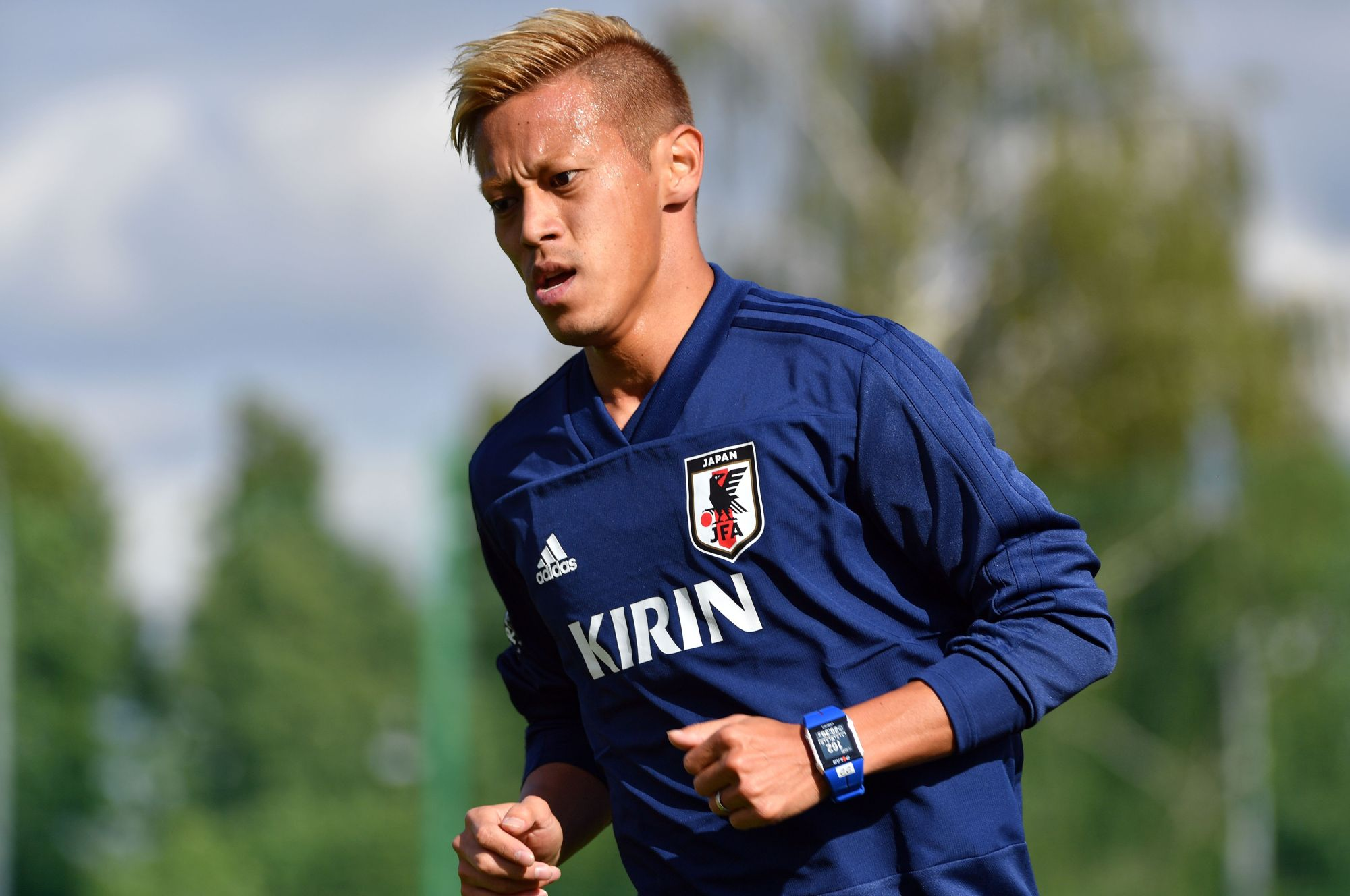 Former Japan star Keisuke Honda has signed on as the general manager for the Cambodian national team. | AFP-JIJI