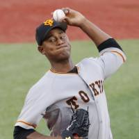 Giants' Cristopher Mercedes earns complete-game victory over rival BayStars