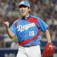 Dragons starter Kazuki Yoshimi tossed a three-hitter against the Swallows on Friday night at Nagoya Dome. Chunichi beat Tokyo Yakult 3-0. | KYODO
