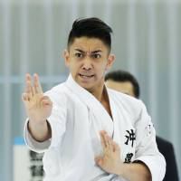 Ryo Kiyuna, a two-time reigning world champion in karate, is favored to win the gold medal at the Asian Games. | KYODO