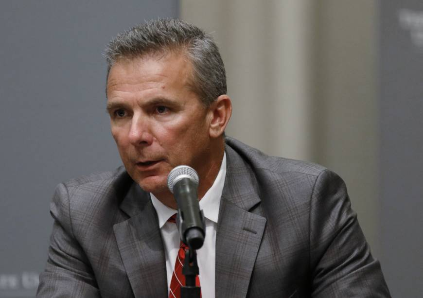 Ohio State hands football coach Urban Meyer three-game ban for mishandling abuse case