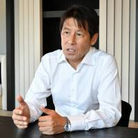 Former national team manager Akira Nishino speaks to The Japan Times in Tokyo earlier this week. | YOSHIAKI MIURA