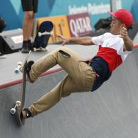 Japanese skateboarders grind to gold in park finals