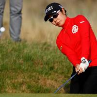 Mamiko Higa competes during the third round of the Women's British Open on Saturday in Lytham St Annes, England. | ACTION IMAGES VIA REUTERS