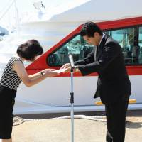Exchanging certificates of ship delivery,  and receipt