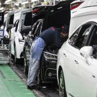 Japanese automakers are bracing for the possibility of higher tariffs on the vehicles they ship to the U.S. market. | BLOOMBERG